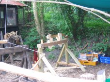 polelathe at green wood working workshop amberley museum