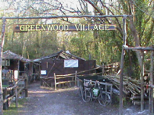 Green Wood Village at Amberley Heritage Museum in West Sussex. Home of the green wood working group. Craft courses all year round. woodland shows etc